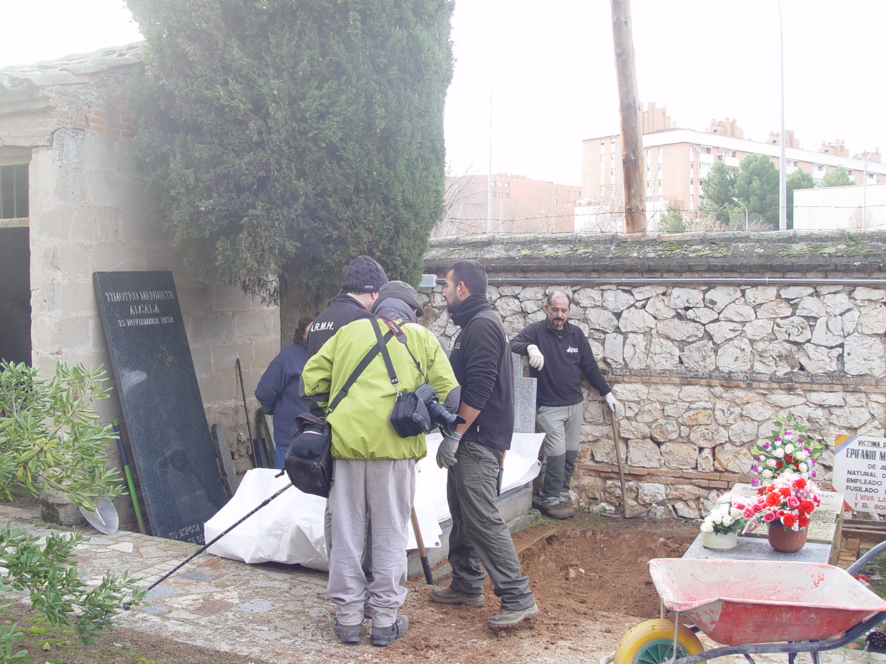 Exhumación de los restos de Mendieta