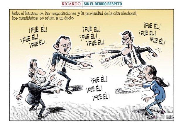 Viñeta de Ricardo en El Mundo.