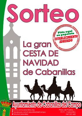 Cartel de la campaña de comercio iniciada desde el ayuntamiento de Cabanillas