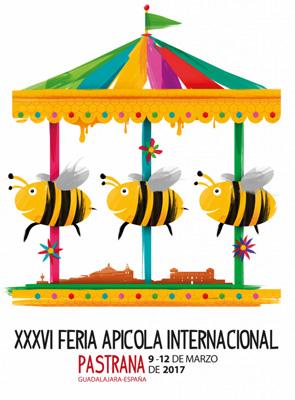 El cartel que representará a la próxima feria Apícola de Pastrana