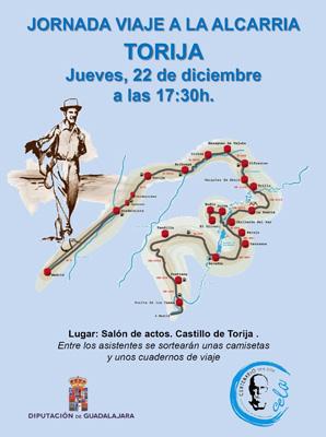 Cartel sobre la jornada del Viaje a la Alcarria por la provincia