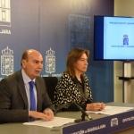 Latre y Guarinos presentan el presupuesto de Diputación que asciende a más de 57 millones de euros