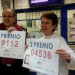 Más de 2 millones de euros en un quinto y un segundo premio