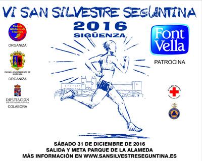 Cartel anunciador de la carrera en Sigüenza