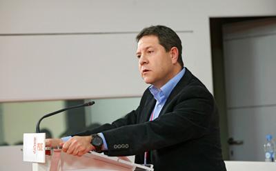 Page durante su intervención en el concláve socialista