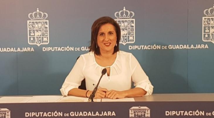 Yolanda Ramírez, durante la rueda de prensa que ha ofrecido hoy. // Foto: Nueva Alcarria.