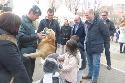 Los perros de la Guardia Civil fueron una de las novedades de la presente edición del Naviguad
