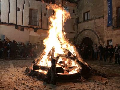 Hoguera de San Vicente en Sigüenza