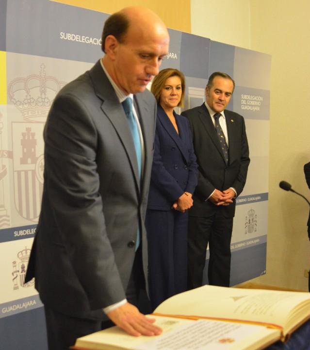 Juan Pablo Sánchez jura su cargo como sundelegado del, Gobierno