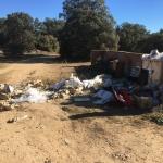 El entorno de Villaflores se llenó de escombros