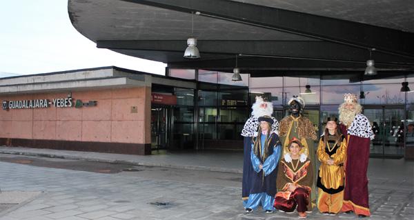 Los Reyes Magos llegarán esta tarde a la estación de Yebes