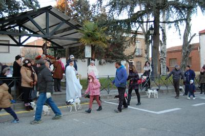Bendición de los animales en el día de San Antón en Yunquera de Henares
