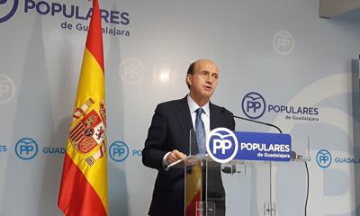 Juan Pablo Sánchez en la rueda de prensa para valorar el congreso del PP