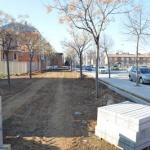 Empiezan las obras en la zona verde de la avenida de Madrid