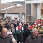 Cabanillas celebró San Blas en una mañana desapacible