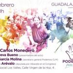 Monedero estará en Guadalajara en un acto de Podemos