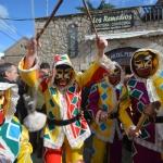 Encuentro de botargas y mascaritas en Albalate de Zorita