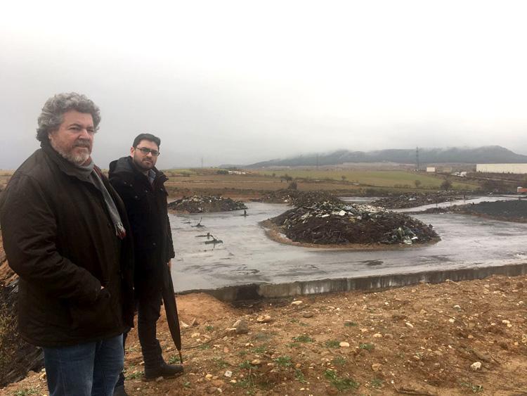 Juan López de Uralde en la planta de Chiloeches. Foto Equo