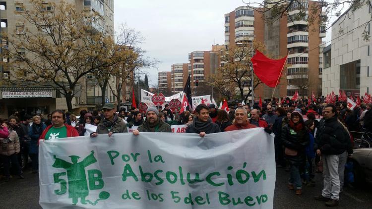 """Manifestación en Guadalajara en apoyo de los """"5 del Buero"""""""