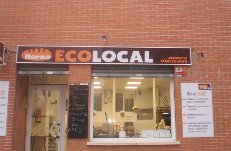 Fachada de la panaderia ecológica de Guadalajara