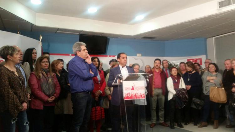 Acto de la presentación de la Plataforma en apoyo a Pedro Sánchez