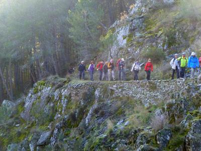Una ruta senderista del Club Alcarreño de Montaña