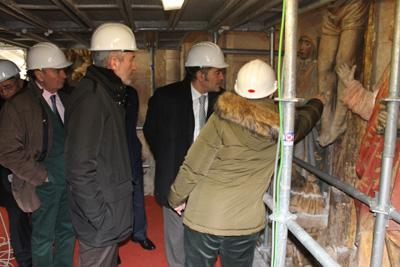 Un momento de la visita del delegado de Gobierno a la catedral de Sigüenza