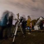 El frío no fue obstáculo para observar las estrellas en Valdenazar