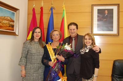 El alcalde de Yunquera con la nueva alcaldesa honoraria
