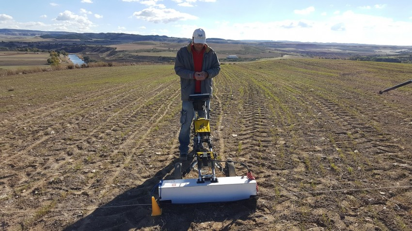 Trabajos de campo realizados en los terrenos de Driebes donde los arqueólogos han descubierto Caraca. //Foto: E.G.