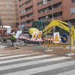 Los trabajos de la calle Sigüenza avanzan a buen ritmo