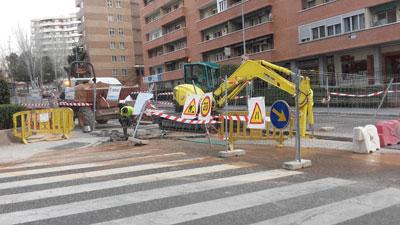 Una imagen de los trabajos llevados a cabo en la calle Sigüenza