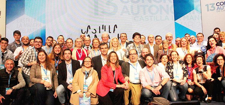 Delegación alcarreña en el Congreso del PP celebrado en Cuenca