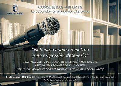 El Conservatorio Sebastián Durón acoge un recital con textos de Buero Vallejo