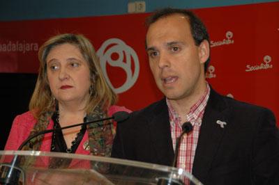 Rueda de prensa de Pablo Bellido y Riansares Serrano