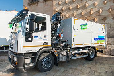 Uno de los camiones que prestan este servicio