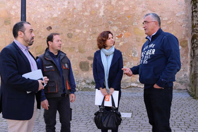 Orlena de Miguel visitó Sacedón para conocer la problemática de Entrepeñas