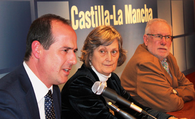 Un momento de la intervención de Alberto Rojo en la conferencia sobre José Luis Sampedro