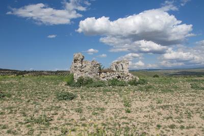 Ruinas de la ermita de la Virgen de la Muela, donde se sitúa la ciudad de Caraca