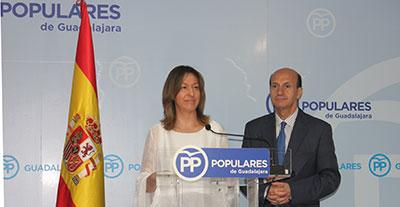 Rueda de prensa de Ana Guarinos y Juan Pablo Sánchez para valorar el congreso de los populares en Cuenca