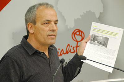 El portavoz socialista en la Diputación, Julio García