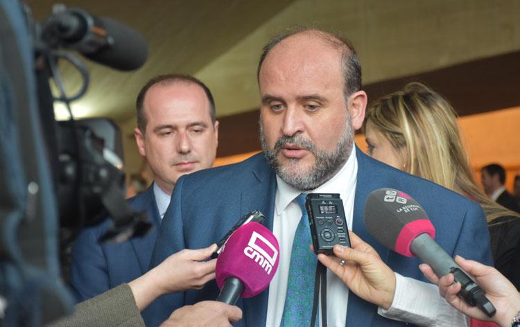 Martínez Guijarro en Guadalajara en declaraciones a los medios sobre la aprobación del último trasvase