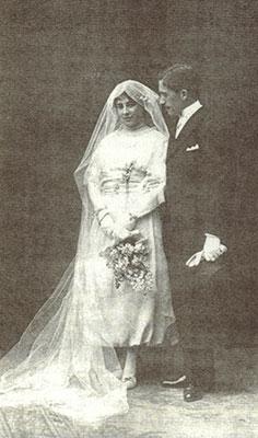 Carmen Bueno y Francisco Layna, el día de su boda