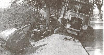 Estado del vehículo conducido por el matrimonio Layna, tras el accidente en el que perdió la vida Carmen Bueno