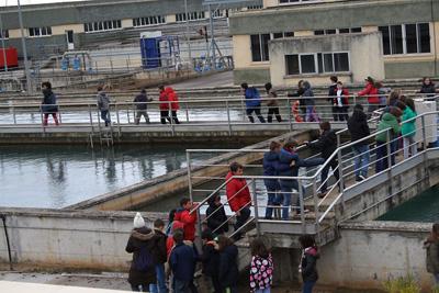 Más de 600 estudiantes visitarán durante el mes de marzo la planta potabilizadora de Mohernando
