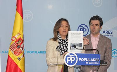 """Para Guarinos, y Lorenzo Robisco, los presupuestos regionales para Guadalajara son """"insuficientes e incumplidores""""."""