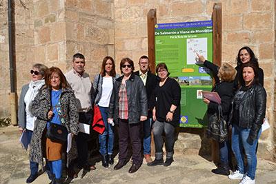 La directora general de Turismo, Ana Isabel Fernández Samper en su visita a Salmerón