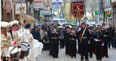 La Banda de Cornetas y Tambores 'Coronación de Espinas y Cristo Rey' de Burgos. (Foto El Correo de Burgos)