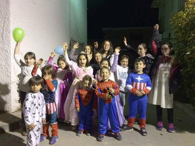 Divertido carnaval de los niños de Yebra