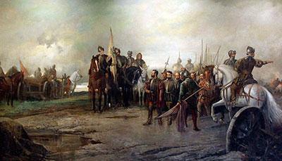 Manuel Pícolo, rendidión de los capitanes comuneros